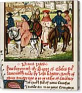 Canterbury Pilgrims Canvas Print