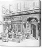 Cantina Restaurant In Saratoga Springs Ny Storefront Canvas Print
