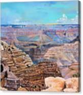 Canyon Blues Canvas Print