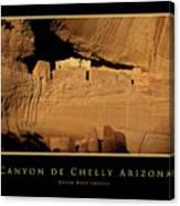 Canyon De Chelly Arizona Black Border Canvas Print