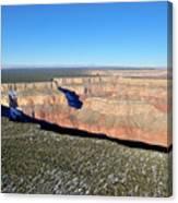 Canyon Edge Aerial Plateau Canvas Print