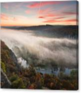 Canyon Of Mists Canvas Print