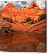 Canyon Reflections At Yant Flat Canvas Print