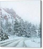 Canyon Snow Canvas Print