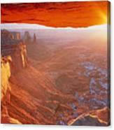 Canyonlands Cavern At Sunset Canvas Print