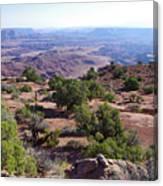 Canyonlands Park Utah Blue To Green Vista Canvas Print