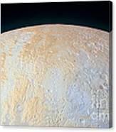 Canyons Around Plutos North Pole Canvas Print