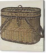 Cap Basket Canvas Print