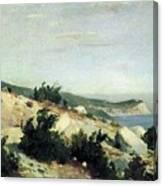 Cape Ai-todor Crimea 1879 21h33 5 Ivan Ivanovich Shishkin Canvas Print