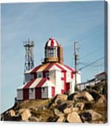 Cape Bonavista Lighthouse, Newfoundland, Canada Old And New Lamp Canvas Print