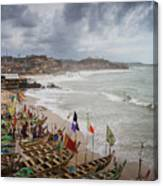 Cape Coast Fishing Village Canvas Print