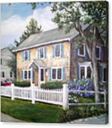 Cape Cod House Painting Canvas Print