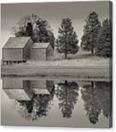Cape Cod Reflections Black And White Photography Canvas Print