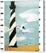 Cape Hatteras Lighthouse - Fish Border Canvas Print
