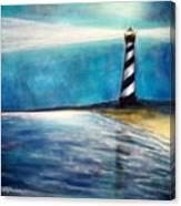 Cape Hatteras Lighthouse Night Glow Canvas Print