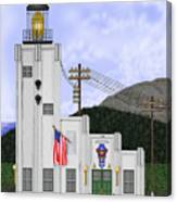 Cape Hinchinbrook Lighthouse In Alaska Canvas Print