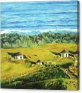 Cape Huts Canvas Print