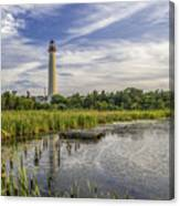 Cape May Lighthouse From The Pond Canvas Print