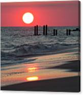 Cape May Nj Sunset, Philadelphia Beach Canvas Print