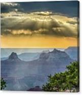 Cape Royal Crepuscular Rays Canvas Print