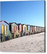 Cape Town Beachhuts Canvas Print