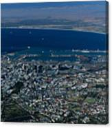 Capetown South Africa Aerial Canvas Print