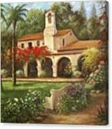 Capistrano Courtyard Canvas Print