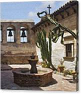 Capistrano Mission Courtyard Canvas Print