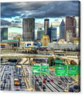 Capital Of The South Atlanta Skyline Cityscape Art Canvas Print