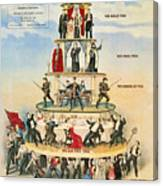 Capitalist Pyramid, 1911 - To License For Professional Use Visit Granger.com Canvas Print