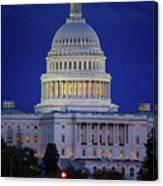 Capitol At Dusk Canvas Print