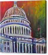 Capitol Closing Canvas Print