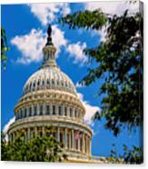 Capitol Of The United States Canvas Print