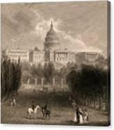 Capitol Of The Unites States, Washington D C Canvas Print