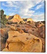 Capitol Reef Sunset Clouds Canvas Print