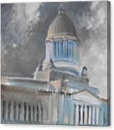 Capitol Turmoil Canvas Print