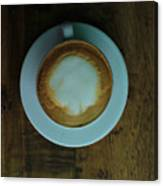 Cappuccino In A Cup Canvas Print