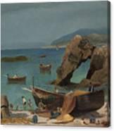 Capri Beach Canvas Print