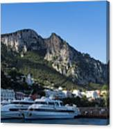 Capri Island Harbor  Canvas Print