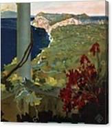 Capri, Italia - Bay Of Naples, Italy - Retro Travel Poster - Vintage Poster Canvas Print