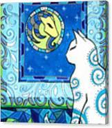Capricorn Cat Zodiac Canvas Print