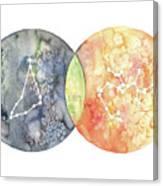 Capricorn Sagittarius Canvas Print