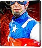 Captain America Super Hero Canvas Print