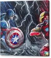 Captain American Vs Ironman Canvas Print