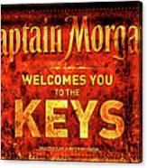 Captain Morgan Welcome Florida Keys Canvas Print