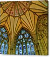 Chapter House Ceiling, York Minister Canvas Print