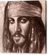 Capt.jack Canvas Print