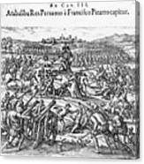 Capture Of Atahualpa, 1532 Canvas Print