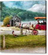 Car - Wagon - Traveling In Style Canvas Print