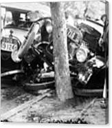 Car Accident, C1919 Canvas Print